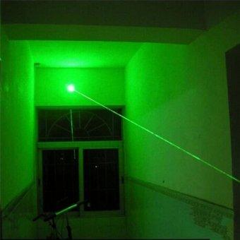 5mw 532nm Powerful Military Visible Light Beam Green/Red LightPointer Pen Green - intl