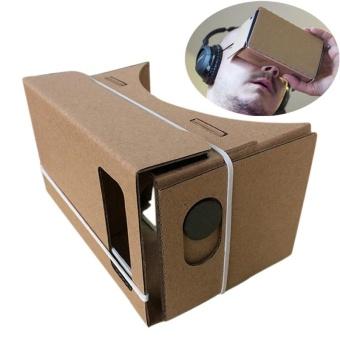 6 inch DIY Google Cardboard 3D VR Virtual Reality Glasses Hardboard- intl