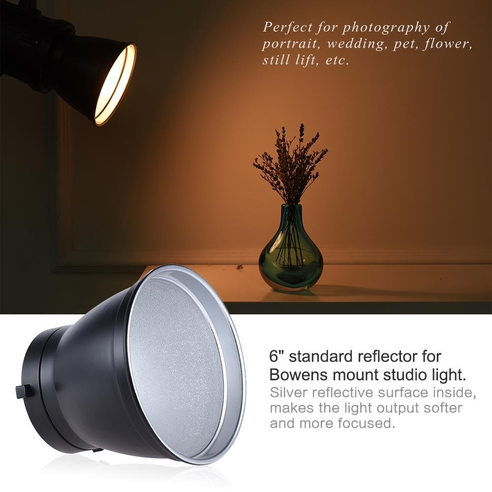 Hot Deals 6 Standard Reflector Diffuser Lamp Shade Dish For Bowens Universal Flash Mount Studio Strobe Light Speedlite Outdoorfree Intl