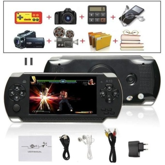 Harga 8G 32bit Handheld Game Console Video Games MP5 Retro Megadrive PXP PSP with Camera (Black) - intl