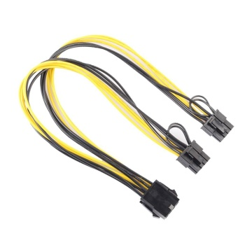 8Pin to Graphics Video Card Double PCI-E 8Pin(6Pin+2Pin)Power Supply Cable - intl