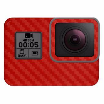9Skin - Premium Skin Protector untuk Case GoPro Hero 5 - CarbonTexture - Merah