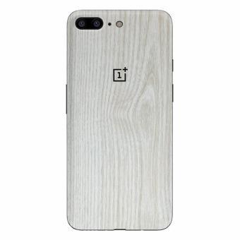 9Skin - Premium Skin Protector untuk Case OnePlus 5 - Wood Texture - Putih