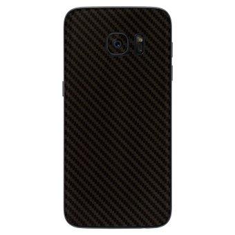 9Skin - Premium Skin Protector untuk Samsung Galaxy S7 Edge - Carbon Texture - Hitam