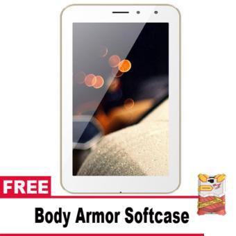 Advan Vandroid I7A Bima Tablet 4G LTE - 8GB - White + Free BodyArmor Softcase