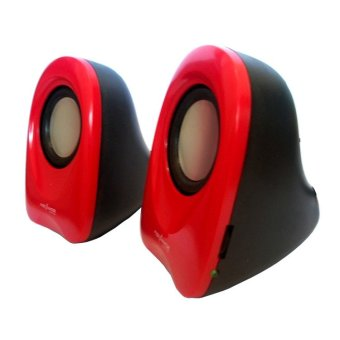 Advance Speaker USB Duo-01 - Merah