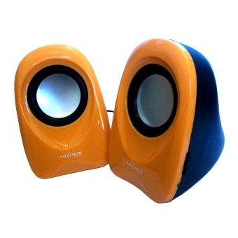 Harga Advance Speaker USB Duo 01 Orange Terbaru klik gambar.