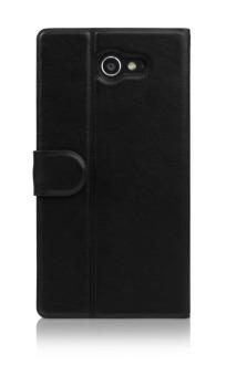 Harga Ahha Leather Case for Sony Xperia M2 Stealth Hitam Kim Flip Case Terbaru klik gambar.