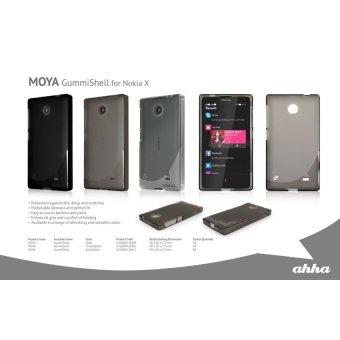 Harga Ahha Moya Gummishell for Nokia X Dual Sim Case Hitam Terbaru klik gambar.