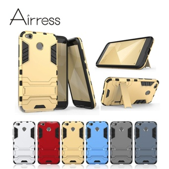 Airress Hard & Soft Hybrid Defender Kickstand Cover ProtectivePhone case for Xiaomi Redmi 4X (Blue) - intl - 3