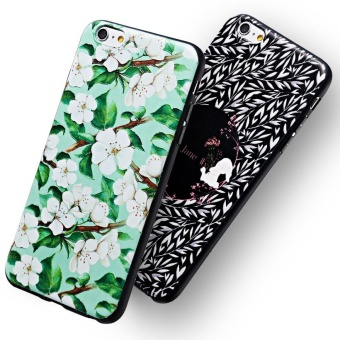 AKABEILA 3D Painted Pattern Coloured Drawing TPU Soft Phone Cover For Apple iPhone 6s Case 4.7 inch For iPhone 6 6s Phone Case - intl - 4