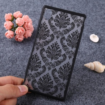AKABEILA Hollow Flower Phone Cases for Sony Xperia M4 Aqua E2303 E2353 5.0 inch E2306 Hard Plastic Phone Back Covers Case Bag Housing Protector Shell Hood Dual E2333 E2363 E2312 - intl