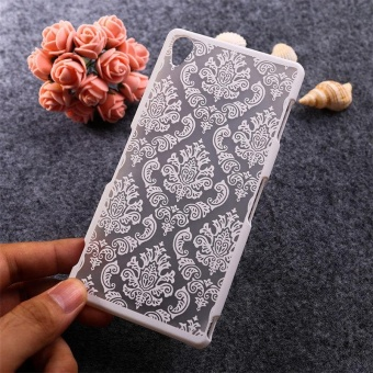 AKABEILA Hollow Flower Phone Cases for Sony Xperia Z3 L55U D6603D6643 D6653 D6616 L55T 5.2 inch Hard Plastic Phone Back Covers CaseBag Housing Protector Shell Hood - intl