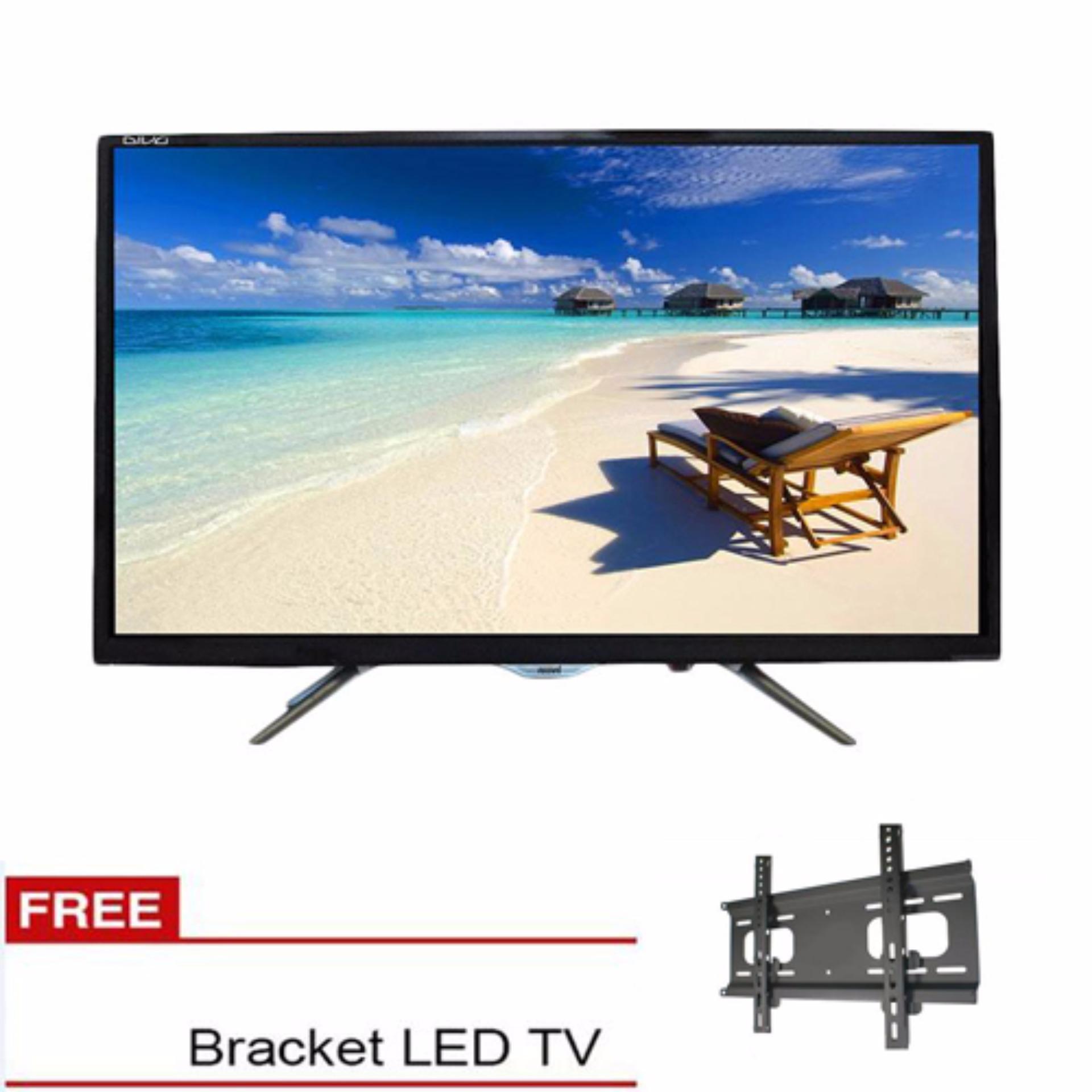 Akari Hd Ready Digital Led Tv 32 Le 3289t2 Free Bracket Hitam Remote