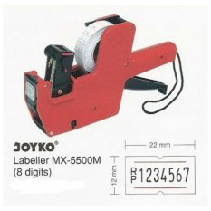 Alat / Mesin Lebel Harga Price Labeller Joyko MX-5500 ( 1 Baris 8 Digit )