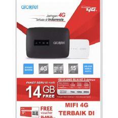 Alcatel Mw40 Modem Tsel 4G 14GB Selama 60 Hari Bypass - Putih