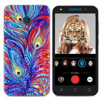 Alcatel U5/4G/5044d Kartun Puding Set Handphone Casing Lunak Casing HP