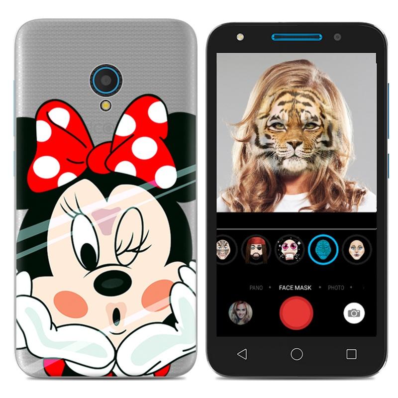 Alcatel u5/u5 kartun puding set telepon soft shell shell telepon