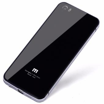 Aluminium Tempered Glass Hard Case for Xiaomi Mi5 - Black Silver
