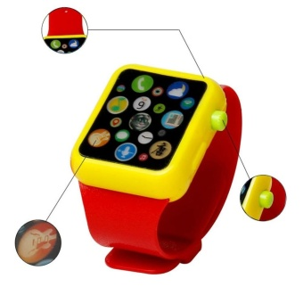 Anak 's multi fungsional Watch 3 D sentuh layar Smart Apple mainan Watch - merah