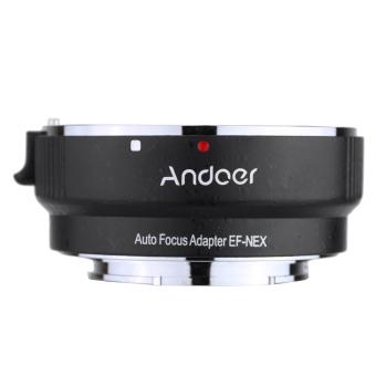 Andoer auto-fokus AF EF - adaptor NEXII cincin untuk Canon EF-Spenggunaan lensa untuk Sony NEX E gunung3/3N/5N/5R/7/A7/A7R/A7S/A5000/A5100/A6000 Bingkai Kamera penuh - 4