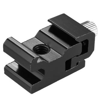Andoer logam Flash Speedlite panas sepatu gunung adaptor disesuaikan lebarnya dengan 1/10.16 cm lubang sekrup untuk Canon Nikon Yongnuo Godox pada Flash kamera paduan aluminium Outdoorfree