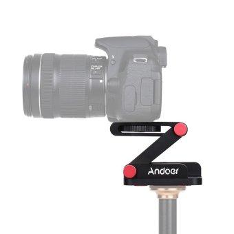 Andoer New Z-shaped Aluminum Alloy Foldable Camera Camcorder Desktop Holder Quick Release Plate Tilt Head for Nikon Canon Sony Pentax DSLR Camera Video Track Slider Tripod Film Making Macrophotography - intl - 3