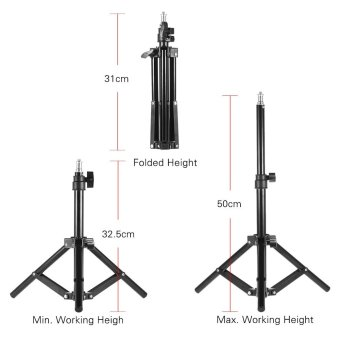 Andoer Photography Photo Studio 50cm / 20inch Aluminum Alloy Mini Light Stand Table Top Backlight Stand Outdoorfree - intl