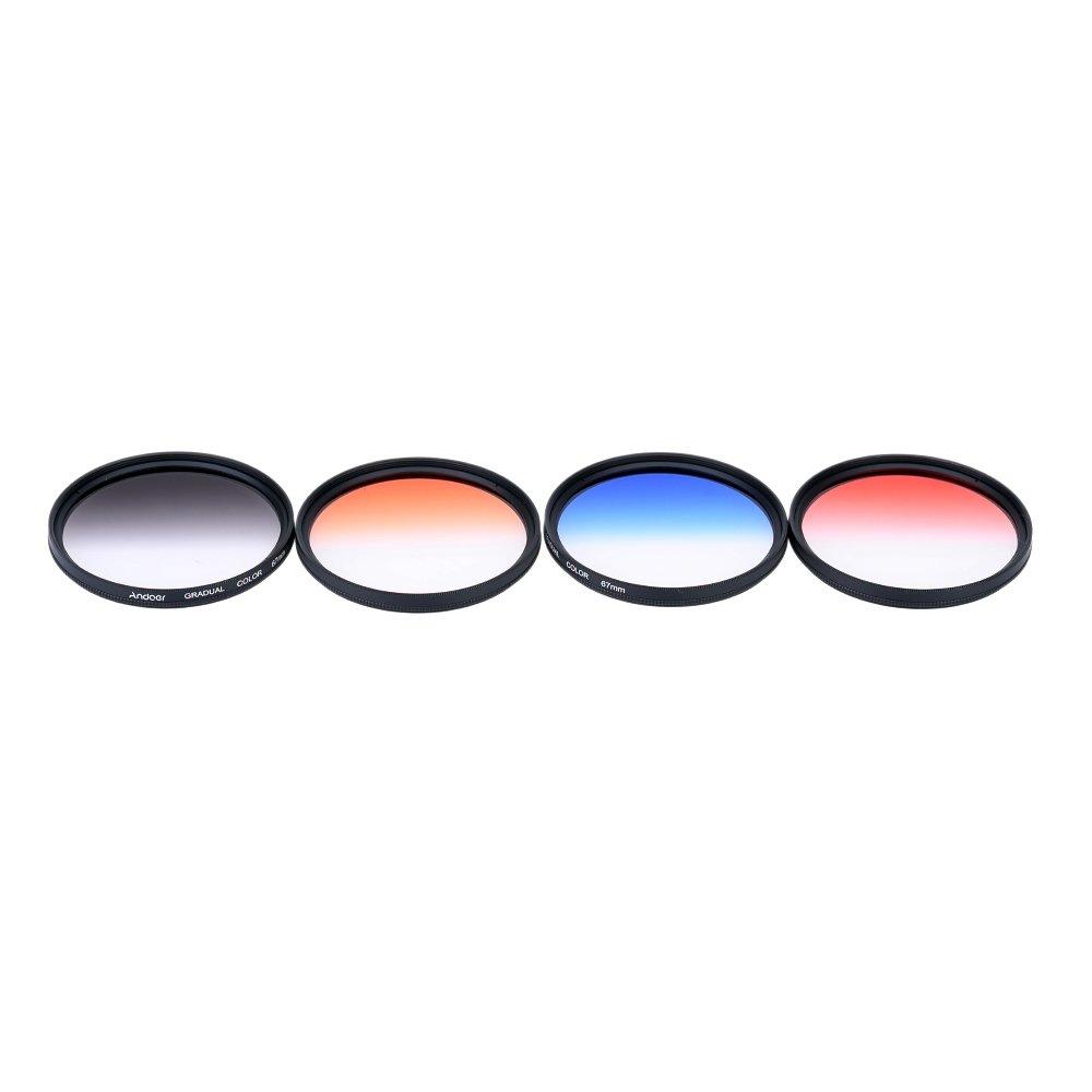Andoer profesional 67 mm GND lulus penyaringan ditetapkan gnd4 (0.6) warnawarni lulusan Kepadatan netral