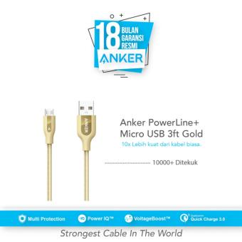 Anker PowerLine+ Micro USB Cable 3ft/0.9m - Gold