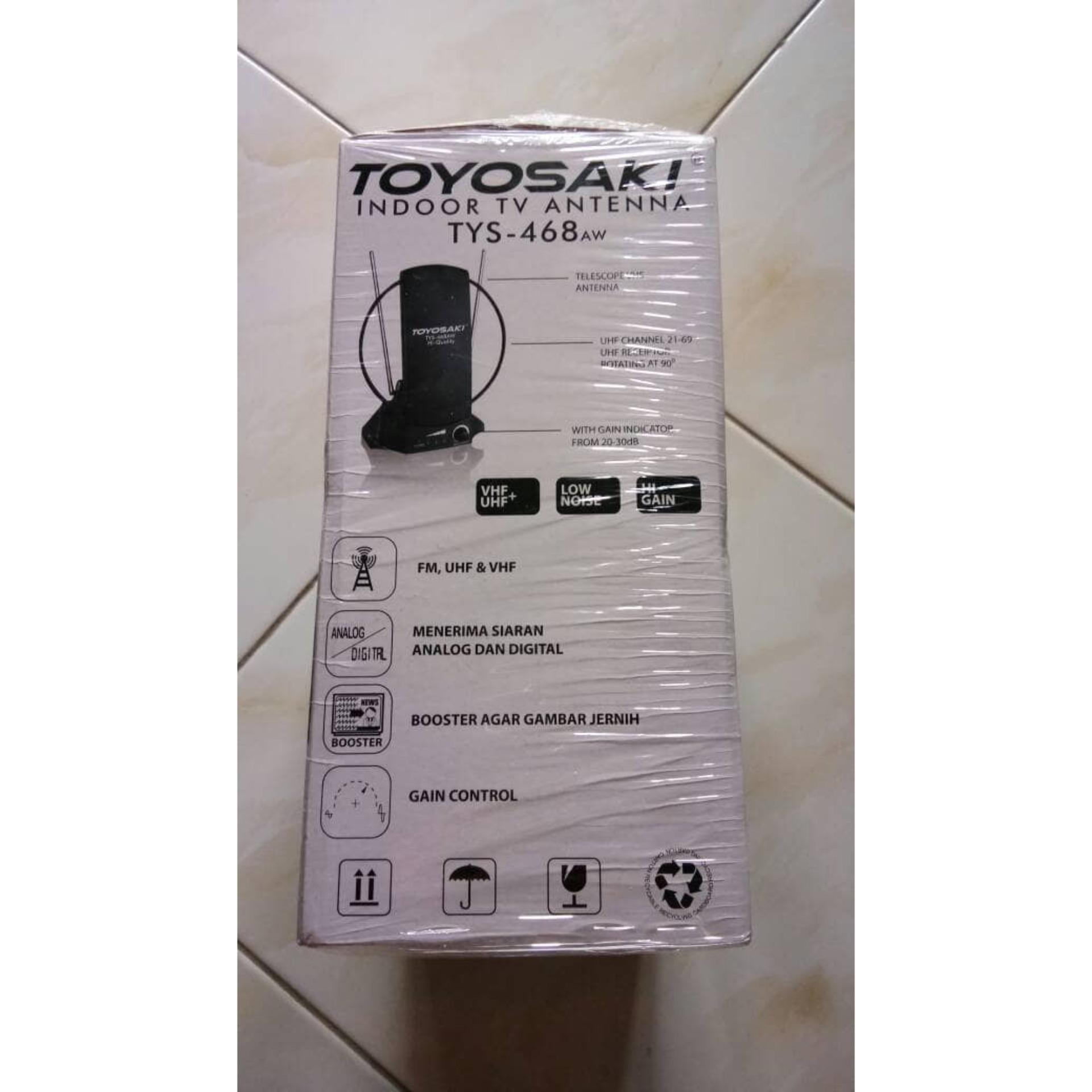 Pencari Harga Antena Dalam Indoor Digital Toyosaki Tys 468 Booster Tv Tarik Vhf Ampamp Uhf Sinyal Kuat