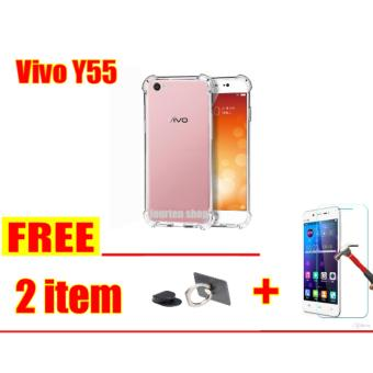 ... Gambar Anti Crack Softcase Casing for Vivo Y55 Y55A FREE RING UNIVERSAL TEMPERED GLASS