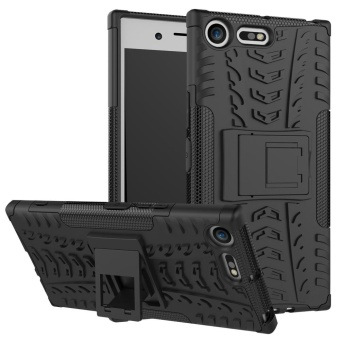 Anti-slip PC + TPU Hybrid Phone Case with Kickstand for Sony Xperia XZ Premium