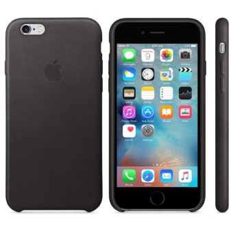 Apple Leather Case iPhone 5/5s/SE - Hitam
