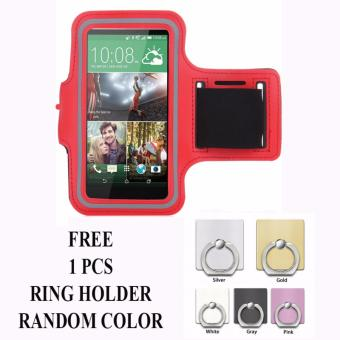 Armband untuk Samsung Galaxy J2 Prime + free Ring Holder - Merah
