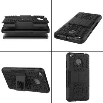 Armor case For Xiaomi Redmi 4X 2 in 1 Silicone & PlasticShockproof protector with kickstand Holder Stand - intl - 2