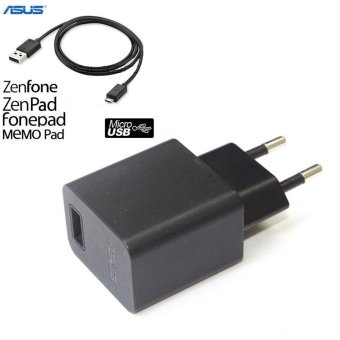 Asus Travel Charger 1.35A Micro USB Cabel Include for Asus Zenfone- Hitam