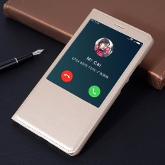 Asuwish Smart View Flip Cover Kulit Case untuk Xiaomi Mi Max Mimax Prime Phone Case Cover Bag Slim Shell Tidur Wake Jendela-Internasional