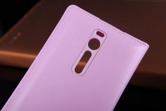Asuwish Smart View Flip Cover Leather Case For Asus ZenFone 2ZE551ML ZenFone 2 Deluxe ZE551ML 5.5 Phone Case Auto Sleep Wake -intl