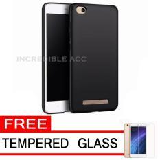 Baby Skin Soft Babby Skin Softase Silicon Matte Ultra Slim for Xiaomi Redmi 5A - Black + Free Tempered Glass