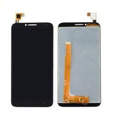 Baru Touch Digitizer Layar LCD Display Assembly untuk Alcatel Idol 2 II OT 6037Y 6037 K (Hitam) + 3 M Tape + Membuka Alat Perbaikan + Lem