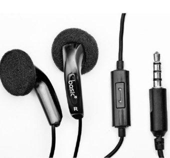 Basic Earphone EB12 Super Bass - Hitam