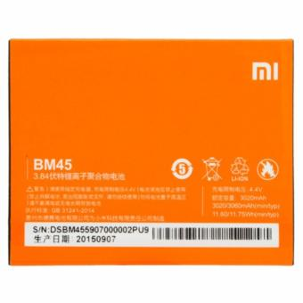 Baterai Handphone XiaoMi Redmi Note 2 BM45 Batrai, Batre, Battery, BM 45, Xiao Mi, HP - Orange
