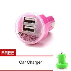 Batteries & Chargers jual elektronik Source Bazel Dual USB Car Charger HHT 002 Merah Gratis Car