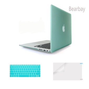Bearbay 3 in 1 Apple Macbook Air 13-inch Soft-Touch Plastic HardCase Cover