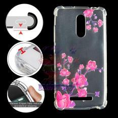 TPU silikon Gel lembut berwarna merah muda bunga belakang Case Untuk Samsung Galaxy Note 4.