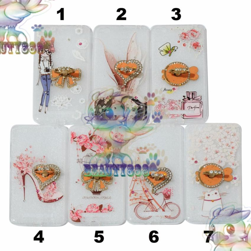 Beauty Case For Xiaomi Redmi 4A Softshell Animasi Cat Cute With Flowers + .