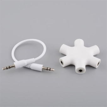 Beautymaker 3.5mm 5 Way Jack Multi Headphone Headset Earphone MP3 Hub Audio Splitter - intl