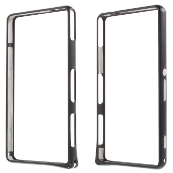 Bemper logam Rim hipokampus gesper untuk Sony Xperia Z1 Compact D5503 - hitam - International