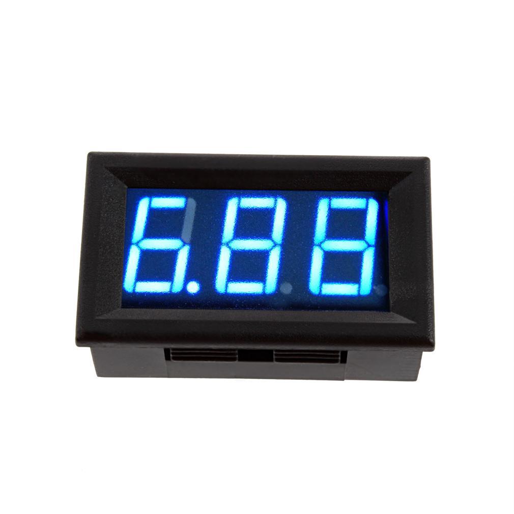 Biru Led Digital Panel Meter arus Dc amplifier Mini 4.5-28 V .